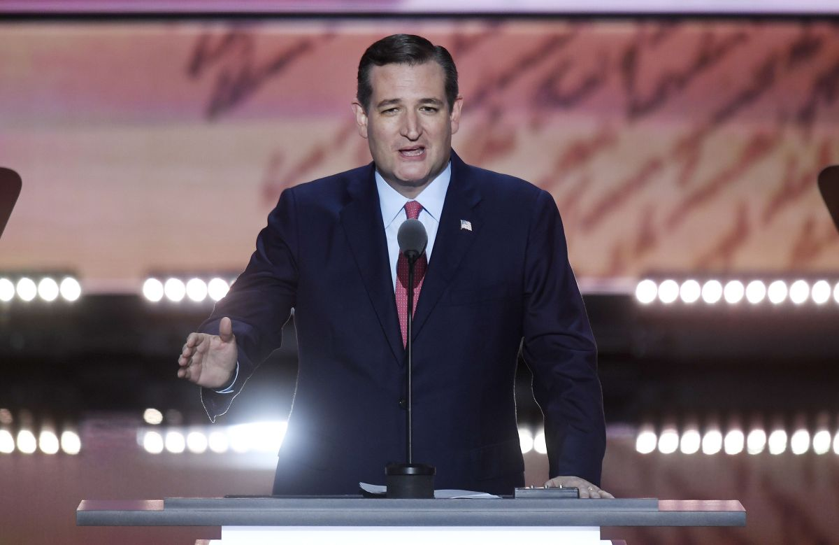 Texas Sen. Ted Cruz speaks during the third day of the Republican National Convention in Cleveland. (TNS)