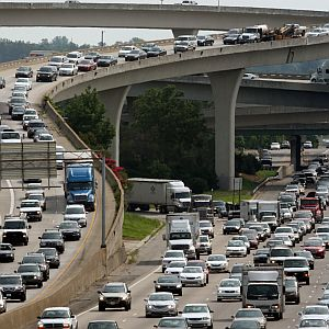 PolitiFact Georgia checked a claim about a proposed tax that could ease traffic snarls like this one at the I-85 / I-285 interchange in Doraville.