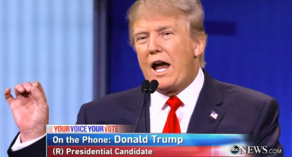 "Republican presidential candidate Donald Trump appeared by phone on ABC's ""This Week"" on Nov. 22, 2015."