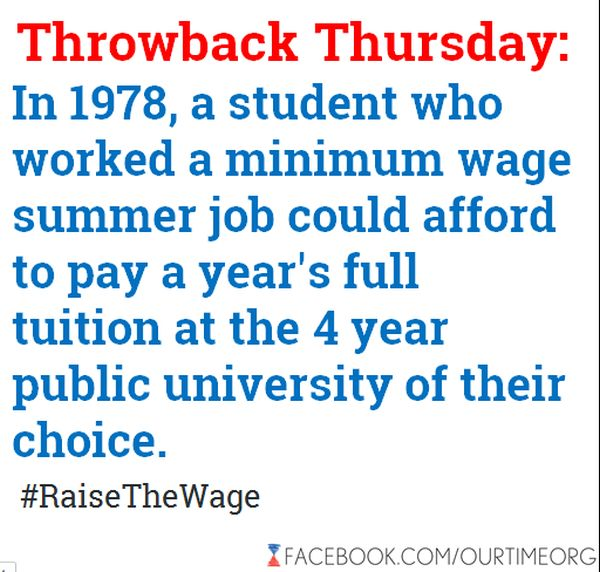 Could A Minimum Wage Earner In 1978 Earn Enough In A Summer To Pay A