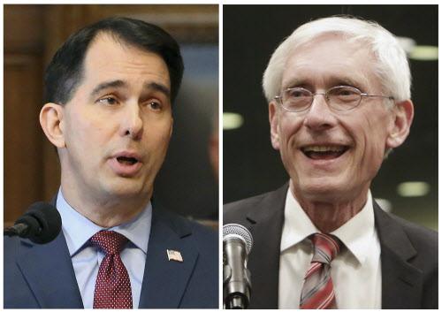 214caefe919 Wisconsin GOP Gov. Scott Walker (left) and Democratic Gov.-elect Tony  Evers. In the ...
