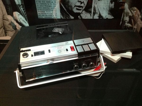 A tape recorder from President Richard Nixon's Oval Office. (Gerald R. Ford Presidential Museum)