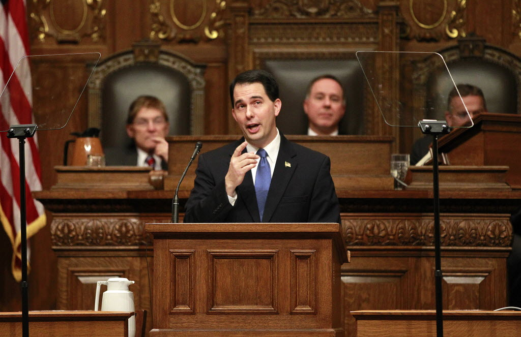Gov. Scott Walker delivers his 2013 State of the State address.