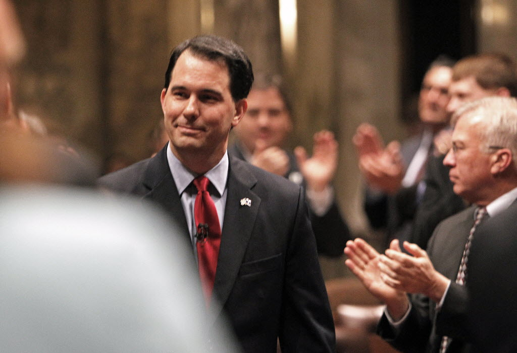Gov. Scott Walker, shown here in 2012, is set to deliver his annual State of the State speech.