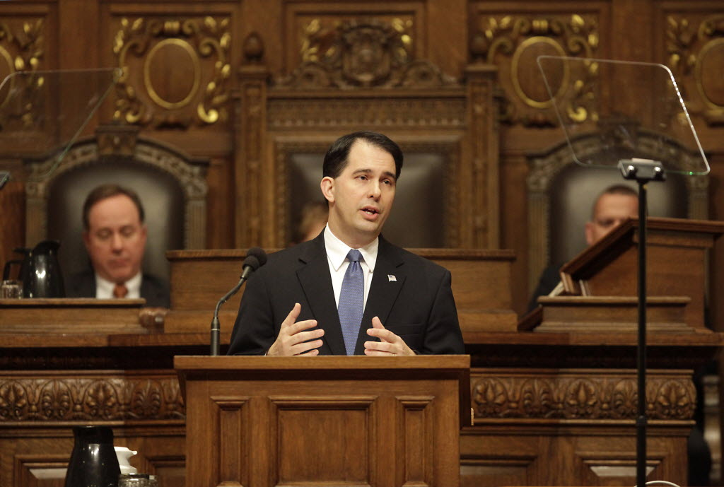 Gov. Scott Walker introduced his 2013-15 budget in a February 2013 speech. Modified by the Legislature, the budget is controversial on a number of fronts.