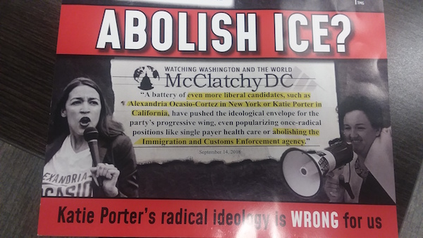 Katie Porter has called for immigration reform, but not to