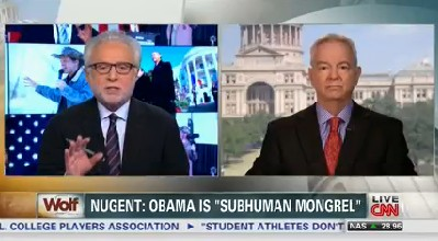CNN host Wolf Blitzer discusses Ted Nugent's comments about President Barack Obama.