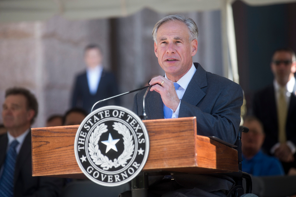 Greg Abbott, shown here in May 2018, agreed to a compromise on his campaign vow to require community colleges to employ block scheduling (PHOTO: Amanda Voisard, Austin American-Statesman).