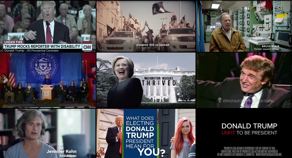 These are the most aired ads in major markets in battleground states.