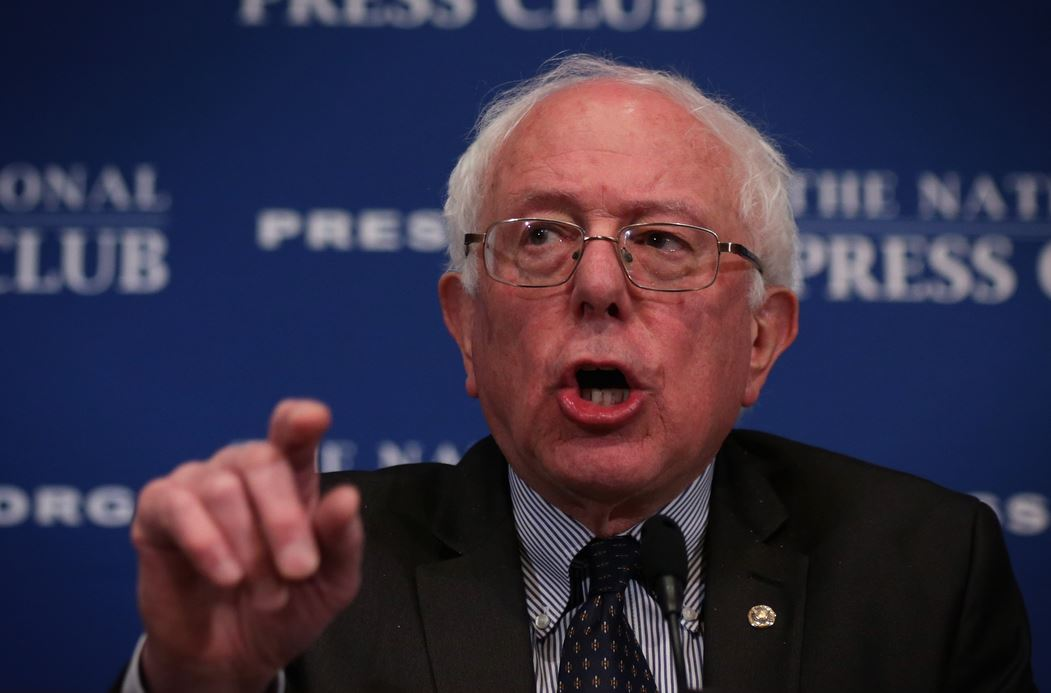 Sen. Bernie Sanders, I-Vt., speaks at a luncheon March 9, 2015 at the National Press Club in Washington, D.C. (Photo by Alex Wong/Getty Images)
