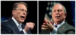 """Wayne LaPierre of the NRA and New York City Mayor Michael Bloomberg both appeared on """"Meet the Press,"""" though not face-to-face."""