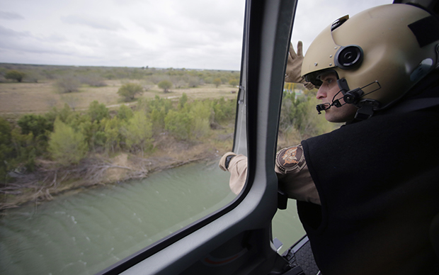 U.S. Customs and Border Protection Air and Marine agents patrol along the Rio Grande on the Texas-Mexico border Feb. 24, 2015, near Rio Grande City (Associated Press/Eric Gay).