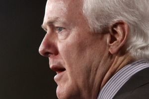 U.S. Sen. John Cornyn speaks about health care at the U.S. Capitol earlier this month.