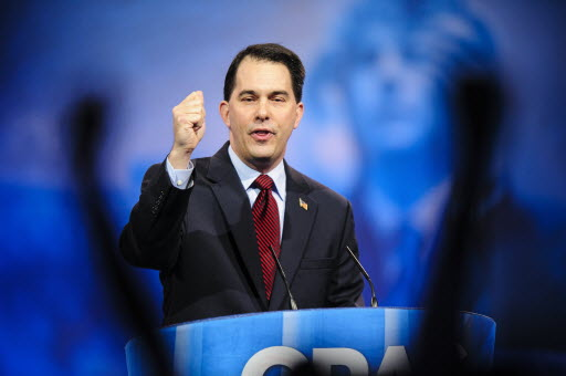 Wisconsin Gov. Scott Walker addresses conservatives at the CPAC conference on March 16, 2013