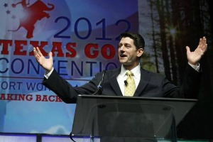 U.S. Rep. Paul Ryan, R-Wis., speaks at the Republican Party of Texas convention June 9, 2012 (Photo by Dallas Morning News).