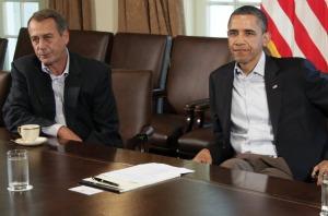 House Speaker John Boehner and President Barack Obama met in the White House on July 23 for talks on raising the nation's debt celing.