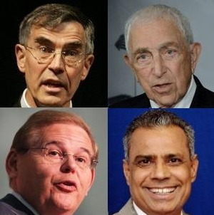 Clockwise from top left: U.S. Rep. Rush Holt, U.S. Sen. Frank Lautenberg, state Assemblyman Upendra Chivukula and U.S. Sen. Robert Menendez.
