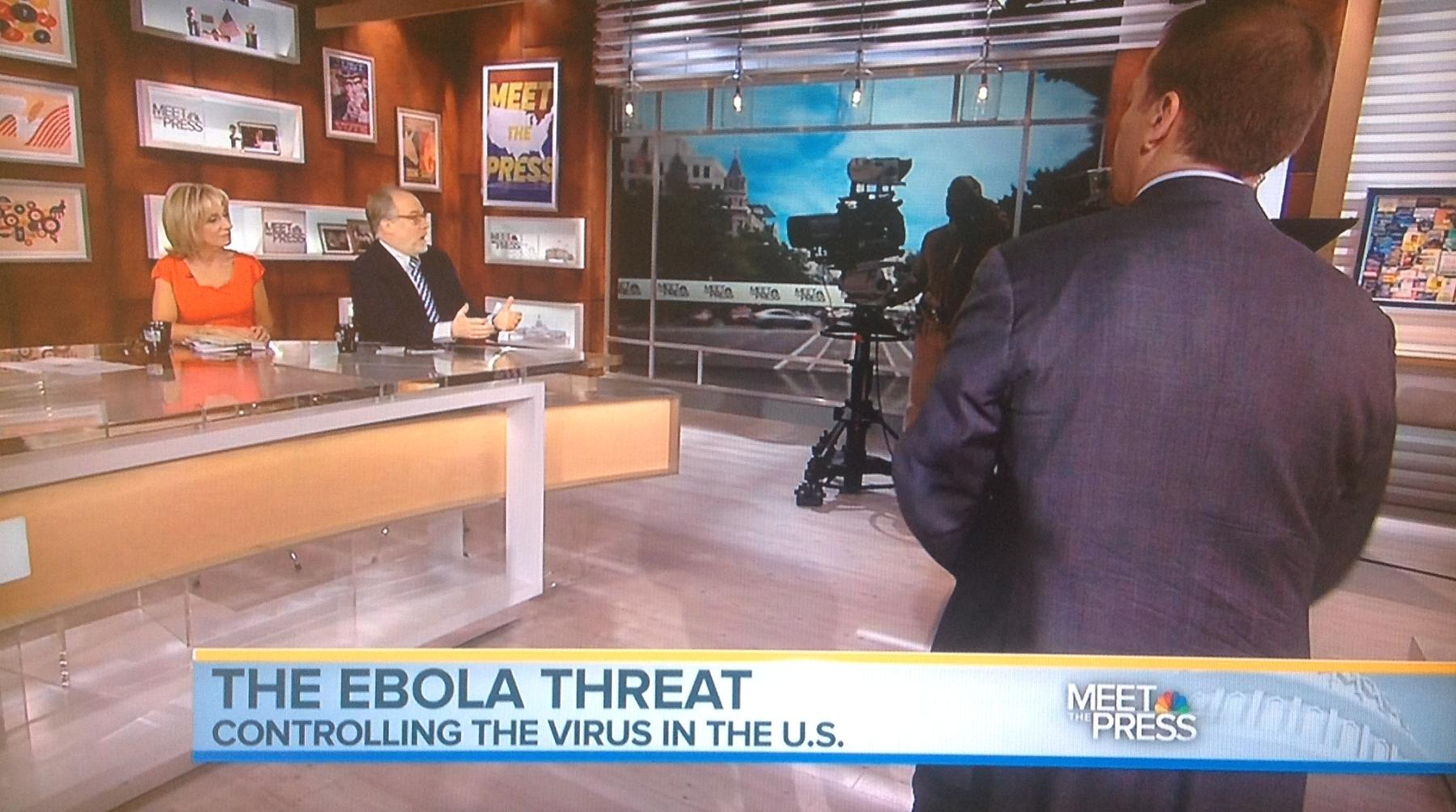 The talk Sunday was all about Ebola.