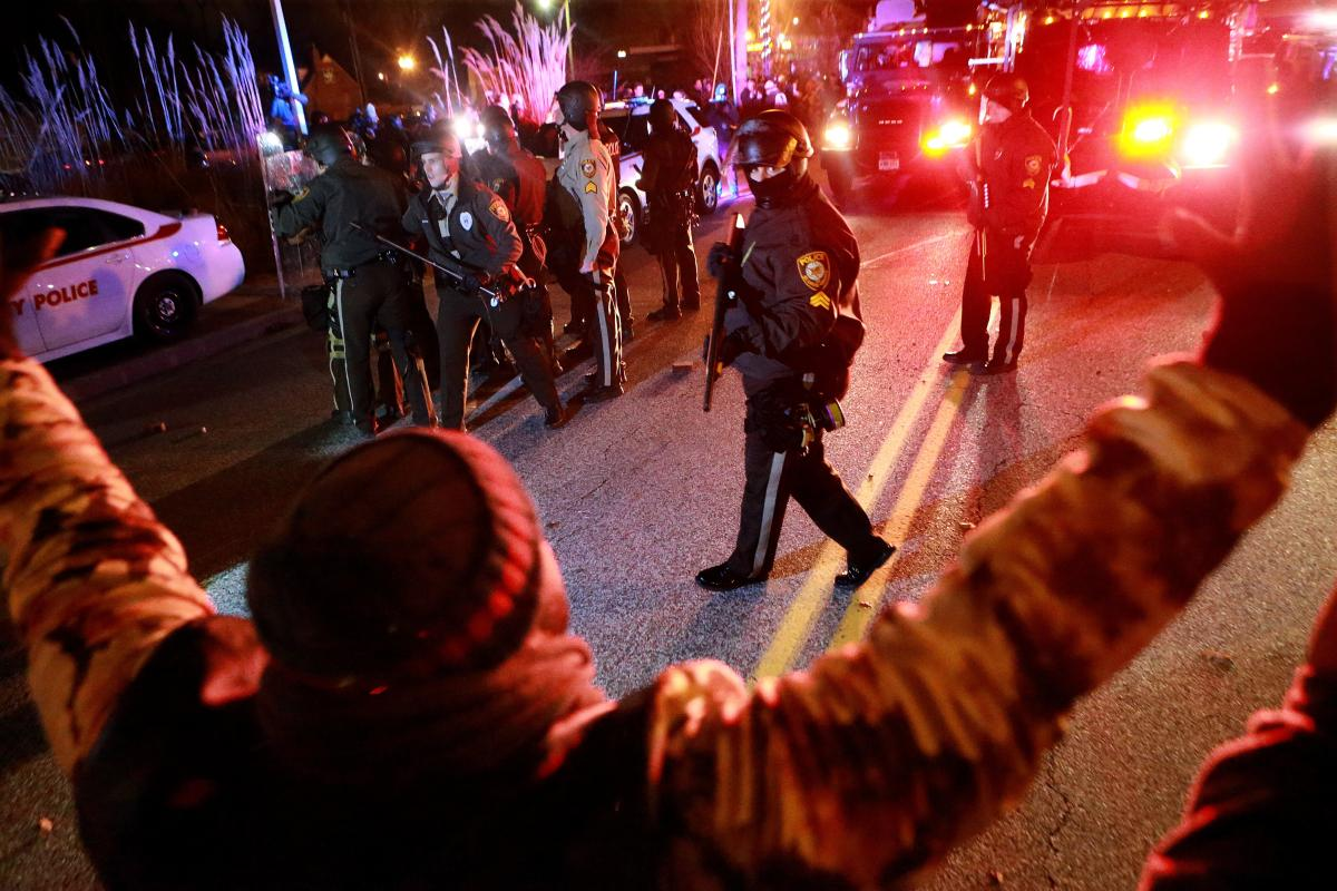 A grand jury's decision not to prosecute Darren Wilson for killing Michael Brown set off a new wave of protests in Ferguson, Mo., on Nov. 24, 2014.