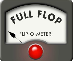 Dan Patrick and David Dewhurst drew Full Flops for their changed positions on the constitutional provision that requires senators to be directly elected by the people.