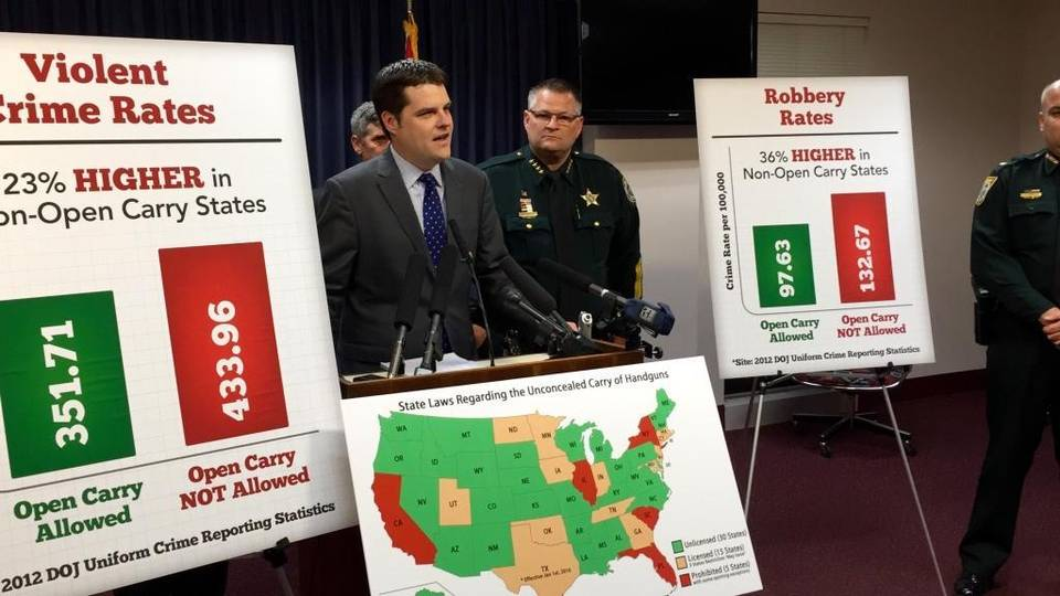 Florida Ccw Reciprocity Map.Is Violent Crime Lower In States With Open Carry Politifact Florida