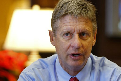 "Gary Johnson appeared on KLRU-TV's ""Overheard"" in September 2012. The interview was taped in August (Associated Press photo)."