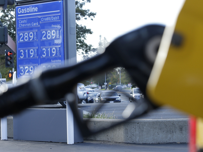 California's gasoline tax rose by 12 cents per gallon on  Nov., 1, 2017.  (AP Photo/Rich Pedroncelli)