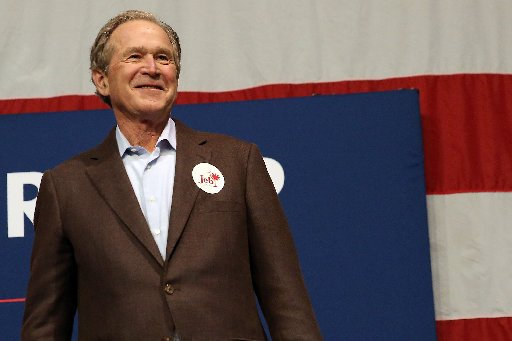 President George W. Bush, who stumped Feb. 15, 2016, for his brother, former Florida Gov. Jeb Bush, has his own somewhat fading Truth-O-Meter record (Getty Images/Spencer Platt).