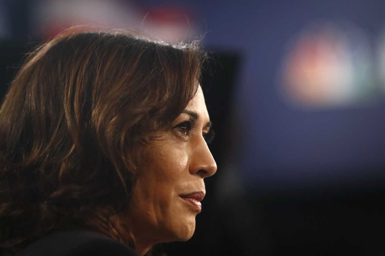 Democratic presidential candidate Sen. Kamala Harris, D-Calif., speaks during the Democratic primary debate, Thursday, June 27, 2019, in Miami (AP).
