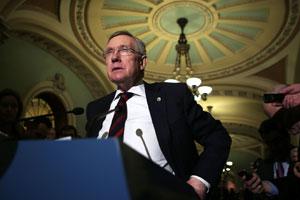 U.S. Senate Majority Leader Sen. Harry Reid, D-Nev., is shepherding gun legislation on Capitol Hill.