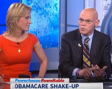 "James Carville and Laura Ingraham tussled over the Affordable Care Act on ABC's ""This Week."""