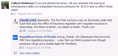 Health Insurance Florida >> Obamacare Won T Let Florida Regulate Health Insurance State Gop