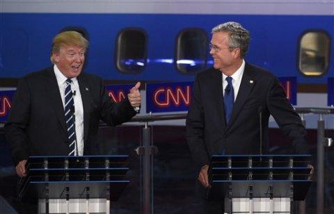 Former Florida Gov. Jeb Bush attacked front runner Donald Trump during the CNN debate Sept. 16, 2015.