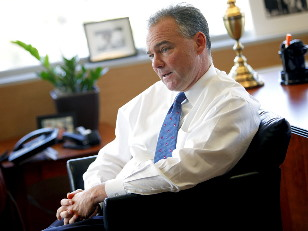 Tim Kaine says lack of health insurance leads to 23,000 premature deaths in the U.S. every year.