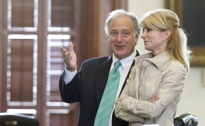 Sens. Kirk Watson of Austin and Wendy Davis of Fort Worth are two of 12 Democrats serving in the Texas Senate.