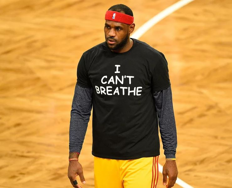 best service dbe0c 3f059 Fake photo changes social message on LeBron James' t-shirt ...