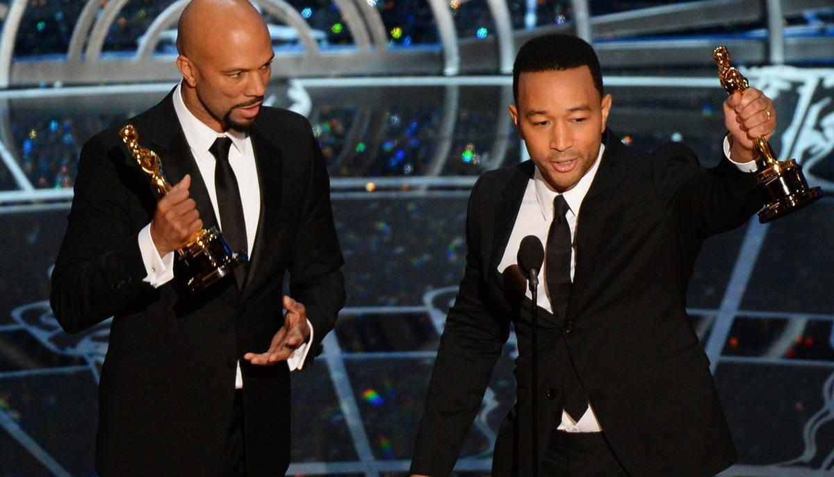 John Legend (right) at the Oscars Sunday night.