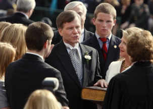 Gov. Bob McDonnell, shown here at his Janaury 2010 inauguration, made 48 campaign promises that we've been tracking.