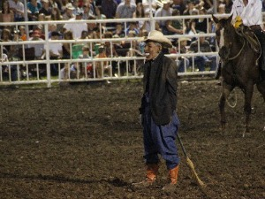 Missouri State Fair officials apologized after this rodeo clown, wearing a mask intended to look like President Barack Obama, had a star turn (Associated Press photo: Jameson Hsieh).