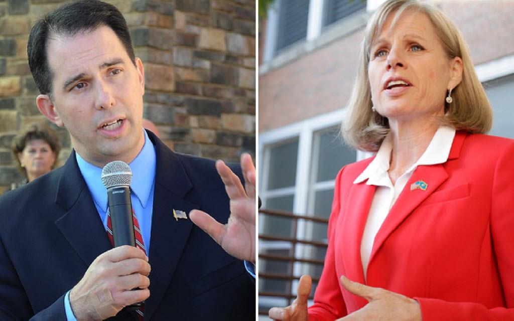 Until November: Gov. Scott Walker and Democratic challenger Mary Burke