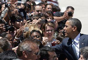 President Obama alighted in El Paso in May 2011.