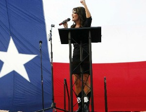 Sarah Palin spoke July 27, 2012, in favor of Republican U.S. Senate hopeful Ted Cruz of Texas (Photo: Johnny Hanson, Houston Chronicle).