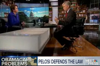 """U.S. Rep. Nancy Pelosi, D-Calif., defended the health care law on Sunday's """"Meet the Press."""""""