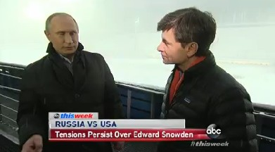 """Russian President Vladimir Putin appeared on ABC's """"This Week."""""""