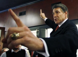 Texas Gov. Rick Perry told an Iowa audience that his abortion position had undergone a transformation. (Source: Associated Press)