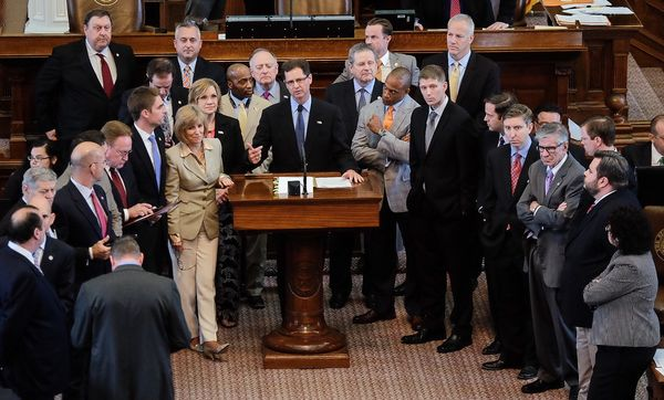 State Rep. Scott Sanford won Texas House approval of the so-called Pastor Protection Act May 21, 2015 (Austin American-Statesman photo, Rodolfo Gonzalez).