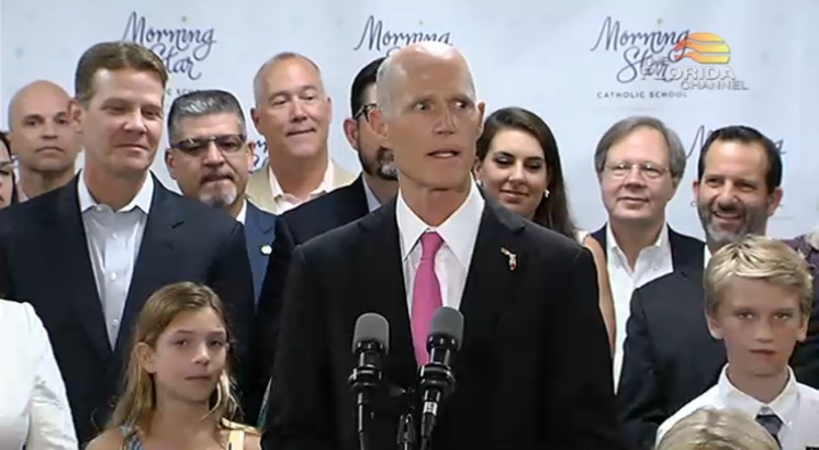 Gov. Rick Scott appeared in Orlando to sign HB 7069 on June 15, 2017. (Florida Channel)