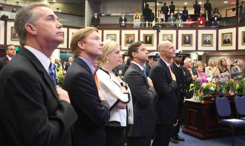 Gov. Rick Scott, right, delivered the 2015 State of the State address March 3, 2015, in Tallahassee. (Scott Keeler / Times)