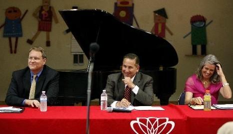 St. Petersburg mayoral candidates Bill Foster, Rick Kriseman and Kathleen Ford. (Lara Cerri | Times)