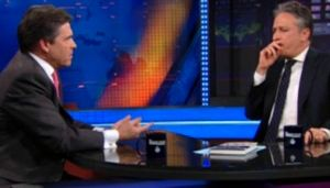 Screen grab of Gov. Rick Perry on The Daily Show on Nov. 8, 2010